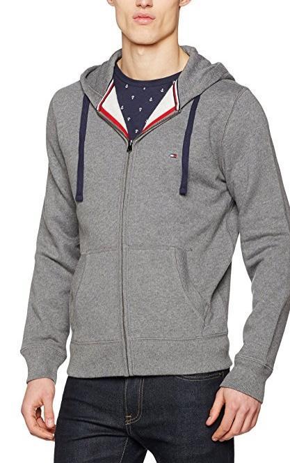[Prime] Sweat-shirt à capuche Tommy Hilfiger Simon Hdd Z-Thru - gris (taille M)