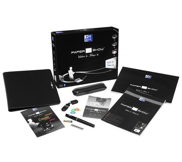kit A4 Oxford PaperShow starter (logiciel + stylo numérique + clé USB + papier + bloc notes)