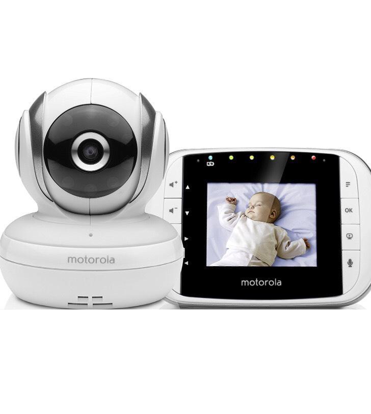 """[Prime] Motorola MBP 33S - Babyphone Vidéo avec écran 2.8"""" - Blanc"""