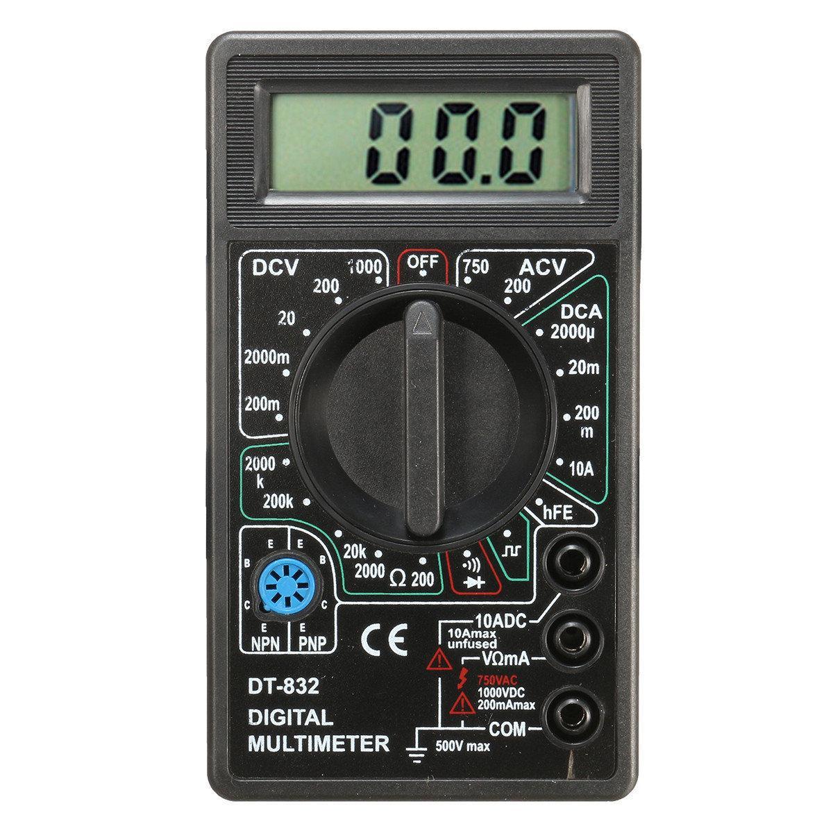 Multimètre DT-832 à écran LCD