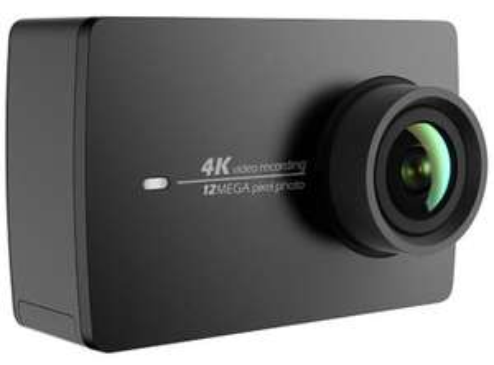 """Caméra d'action 4K YI 2 (Édition Internationale) - Ecran Tactile 2.19"""", Capteur Sony IMX377, Vidéo 4K 30 fps, 12 Photos MP, Batterie 1400mAh - Noir"""