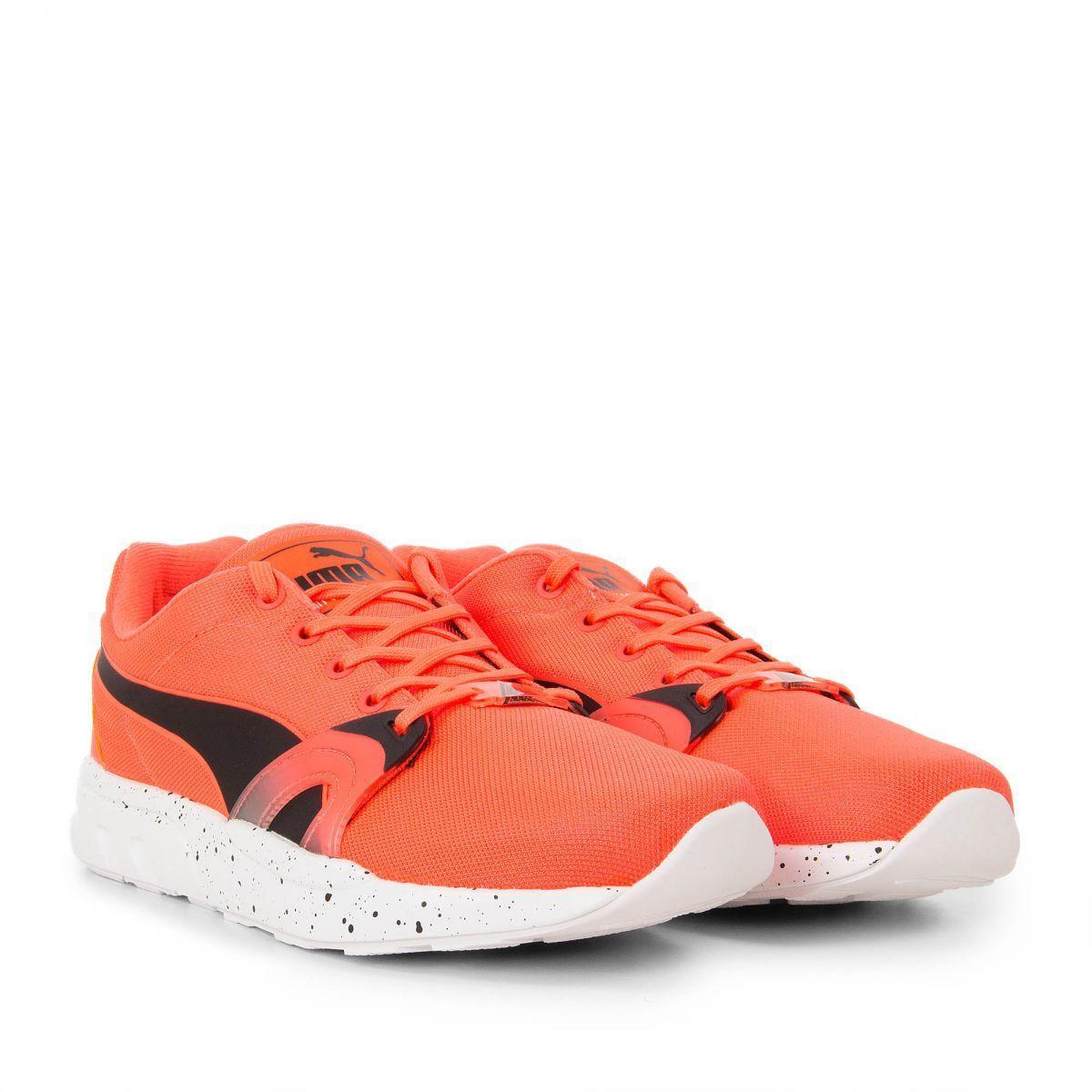 Baskets basses Puma Running XTS Speckle Orange Fluo pour Hommes - Tailles au choix