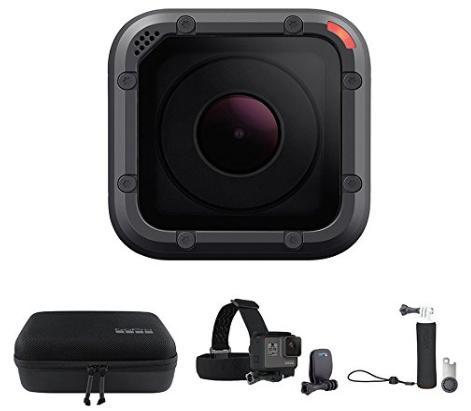 [Prime FR] Pack GoPro HERO5 Session + Etui de transport GoPro Casey + poignée flottante GoPro The Handler + fixation frontale GoPro + QuickClip
