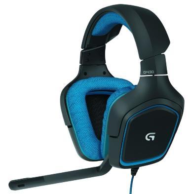 [Prime] Micro-Casque Gamer Logitech G430 pour PC/PS4 - Noir / Bleu