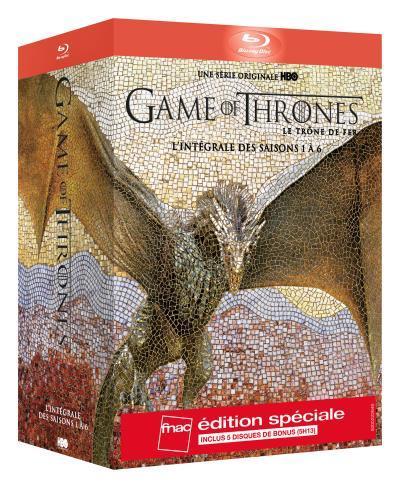 Coffret Blu-ray Game of Thrones - Intégrale des saisons 1 à 6 - Edition spéciale Fnac (Avec disque bonus)