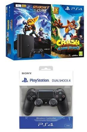 [Prime ES] Sélection de packs PS4 en promo - Ex : Console PS4 Pro (Noir) - 1 To + Uncharted 4 + Crash Bandicoot N-Sane Trilogy