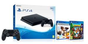 [Prime UK] Console Sony PlayStation 4 500Go + Overwatch + Crash Bandicoot N Sane Trilogy + 2nde manette Dualshock 4