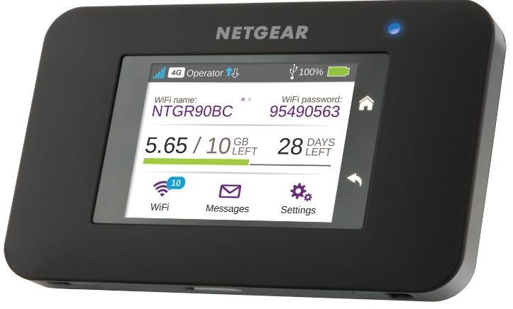 [Prime] Hotspot Mobile Netgear AC790-100EUS 4G+ LTE avec Écran Tactile - Fonctions SMS et Powerbank