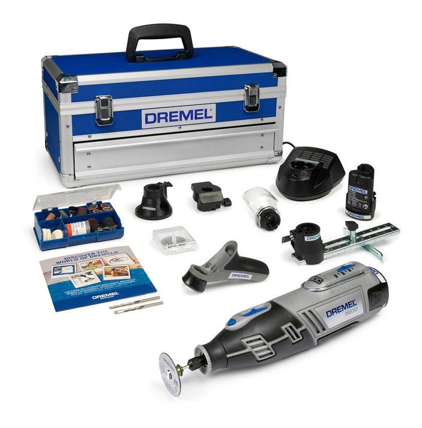 [Prime] Outil rotatif Dremel 8200-5/65 + Coffret + 65 outils + 2 adapations + 2 batteries