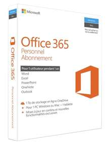[Prime] Office 365 Personnel - Abonnement un an pour 1 PC Windows ou Mac + 1 tablette