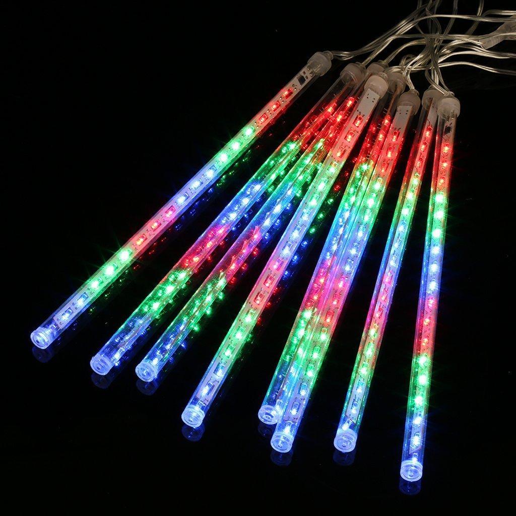 [Panier Plus] Guirlande Lumineuse Extérieure 8 Tube 144 LED Lumières Pluie de Météore