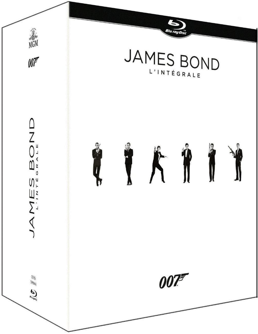 Coffret blu-ray  intégrale James Bond 007 - 24 films - Edition limitée