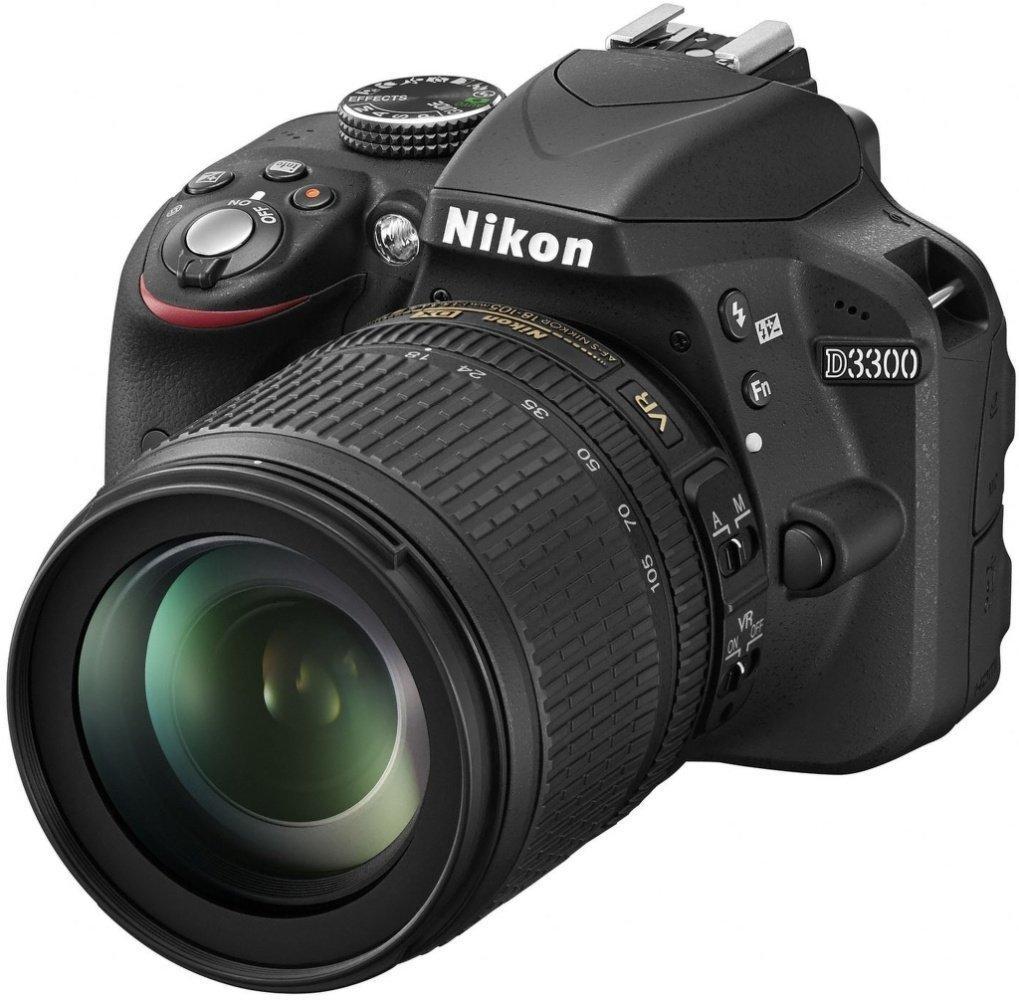 Reflex Nikon D3300 24,2 Mpix Kit Objectif AF-S 18-105 mm VR Noir