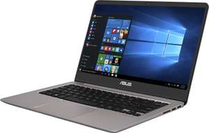 "[Prime] PC Portable 14"" Asus ZenBook Plus UX410UA-GV028T- Full HD, i5-7200U, RAM 8 Go, SSD 256 Go, Windows 10, Gris métal"