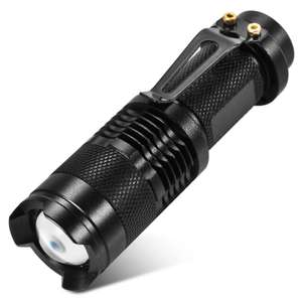 Lampe torche SK68 AA 350Lm Cree Q5 LED Adjustable Focus - Noir