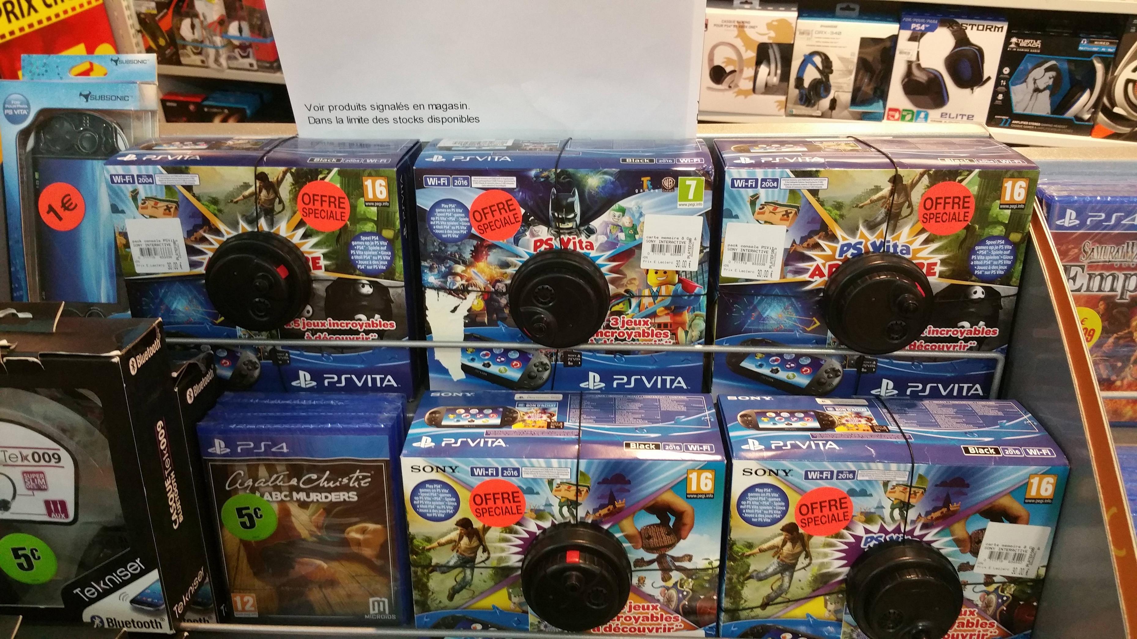 Pack Console Sony PS Vita (Avec 3 à 5 jeux)