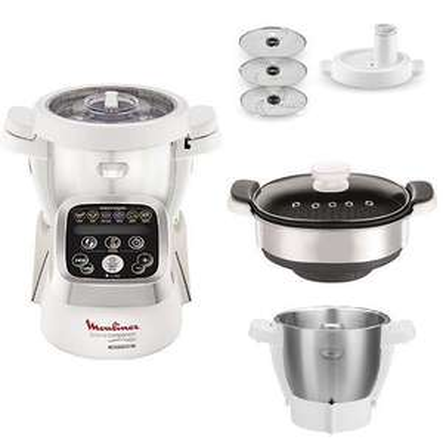 [Prime ES] Pack Robot Cuiseur Moulinex Companion + 1 bol + 1 cuiseur vapeur XF384B10 + 1 découpe légumes XF383110