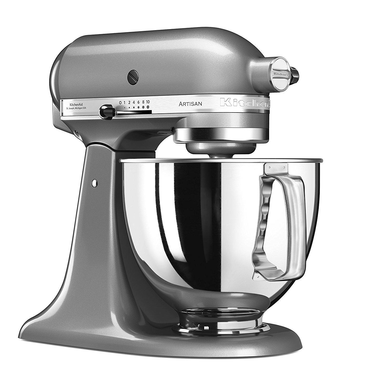 Robot pâtissier Kitchenaid Artisan gris argent - 4.8L, 300W