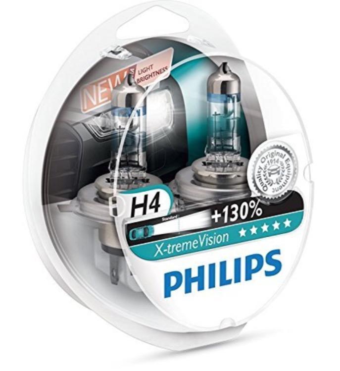 [Prime] Paire d'ampoules Philips Xtreme Vision +130 H4