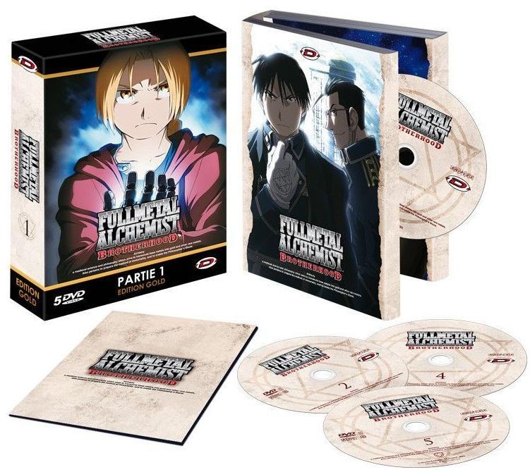 Sélection de coffrets DVD en promotion - Ex : Coffret DVD Edition Gold Fullmetal Alchemist : Brotherhood - Partie 1 + Livret (VOSTFR/VF)