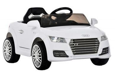 Sélection de véhicules électriques pour enfant en promotion - Ex : voiture Audi TT - blanc ou noir (101x62x48 cm)