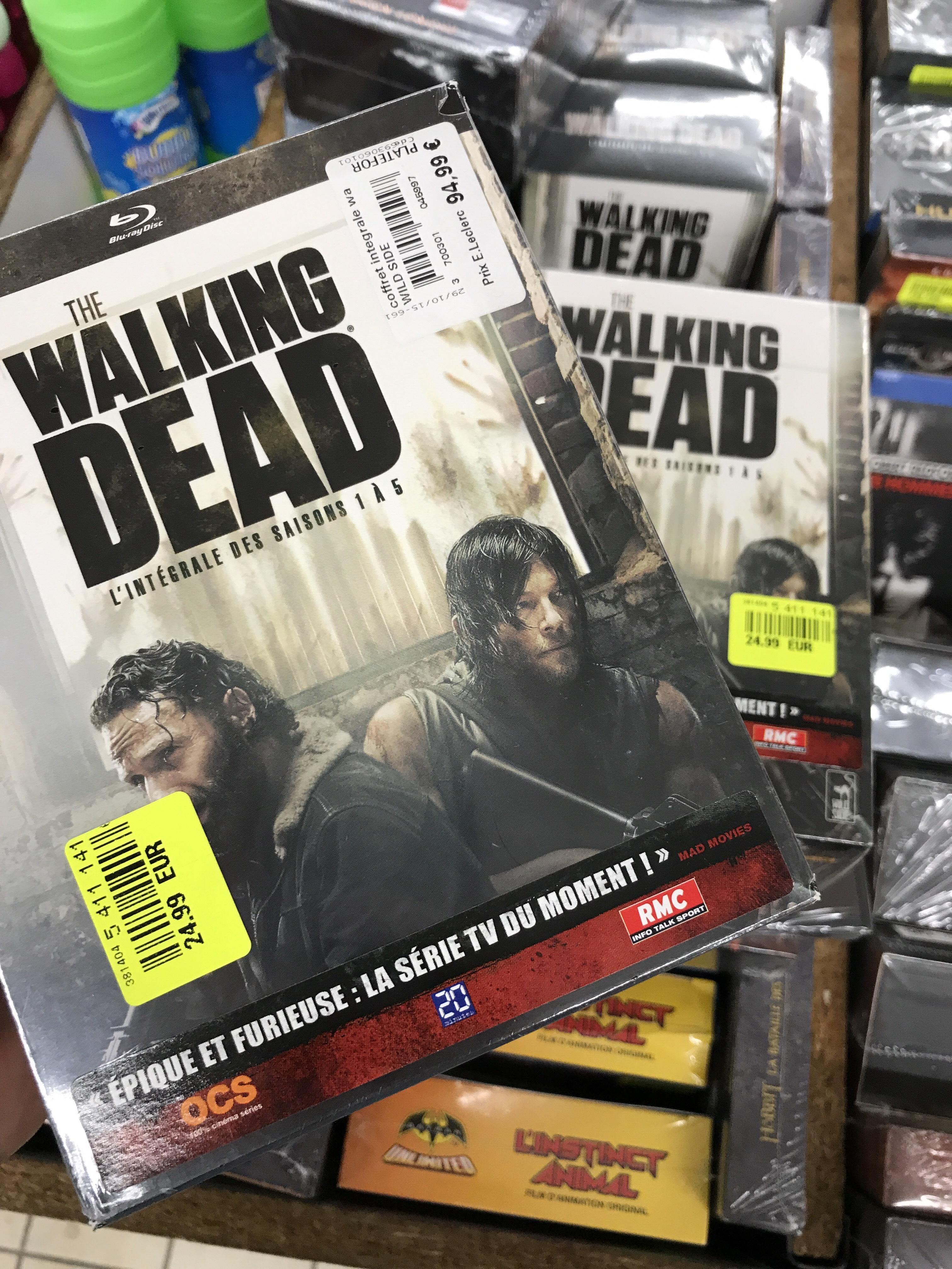 Coffret Blu-Ray ou DVD The Walking Dead saison 1  à 5