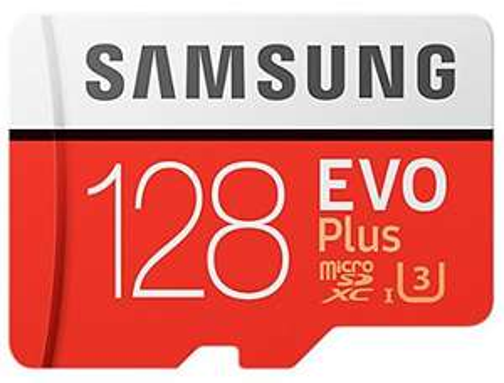 [Prime DE] Carte microSDXC Samsung EVO Plus U3 (2017 - Jusqu'à 100-90 Mo/s) - 128 Go