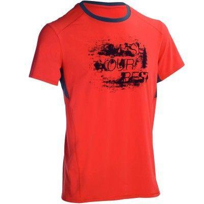 T-Shirt Fitness Cardio Energy Domyos pour Hommes - Tailles et Coloris au choix
