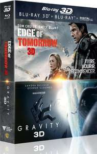 [Prime] Coffret Gravity + Edge Of Tomorrow (Blu-Ray + Blu-Ray 3D + Copie Digitale)
