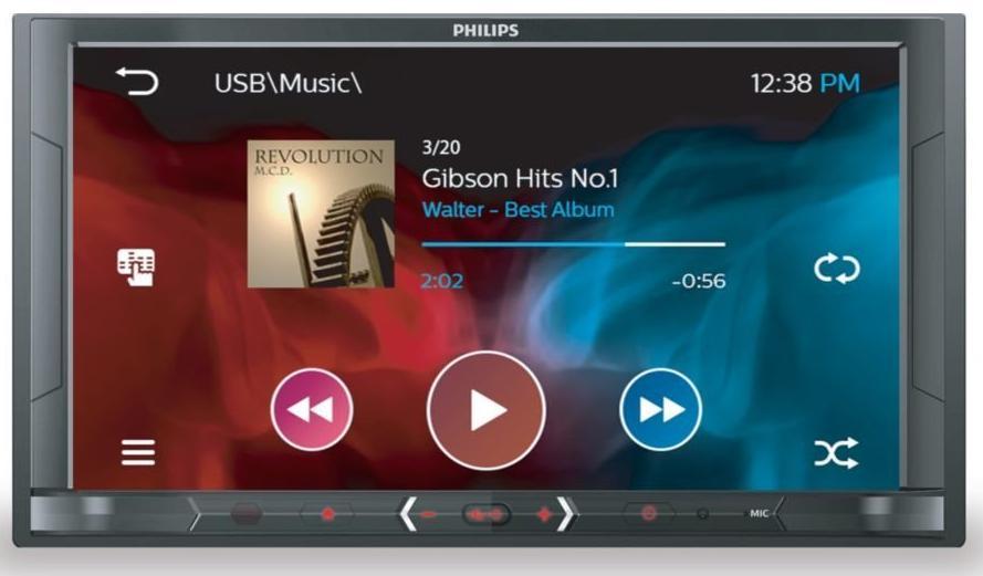 [CDAV] Autoradio audio/vidéo Philips CE600BT - Bluetooth - Double DIN 6,8