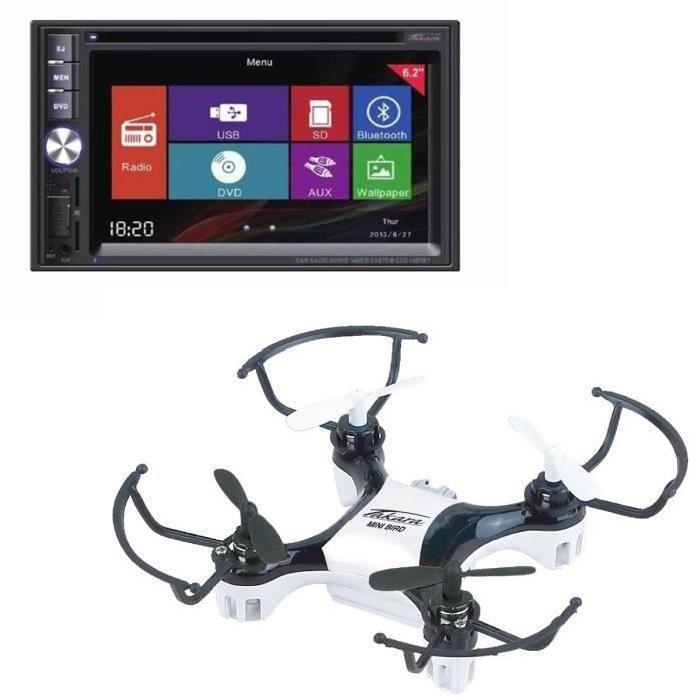 """[Cdiscount à volonté] Autoradio audio/vidéo Takara CDD1887BT - 2 DIN 6,2"""" Bluetooth + Drone offert"""