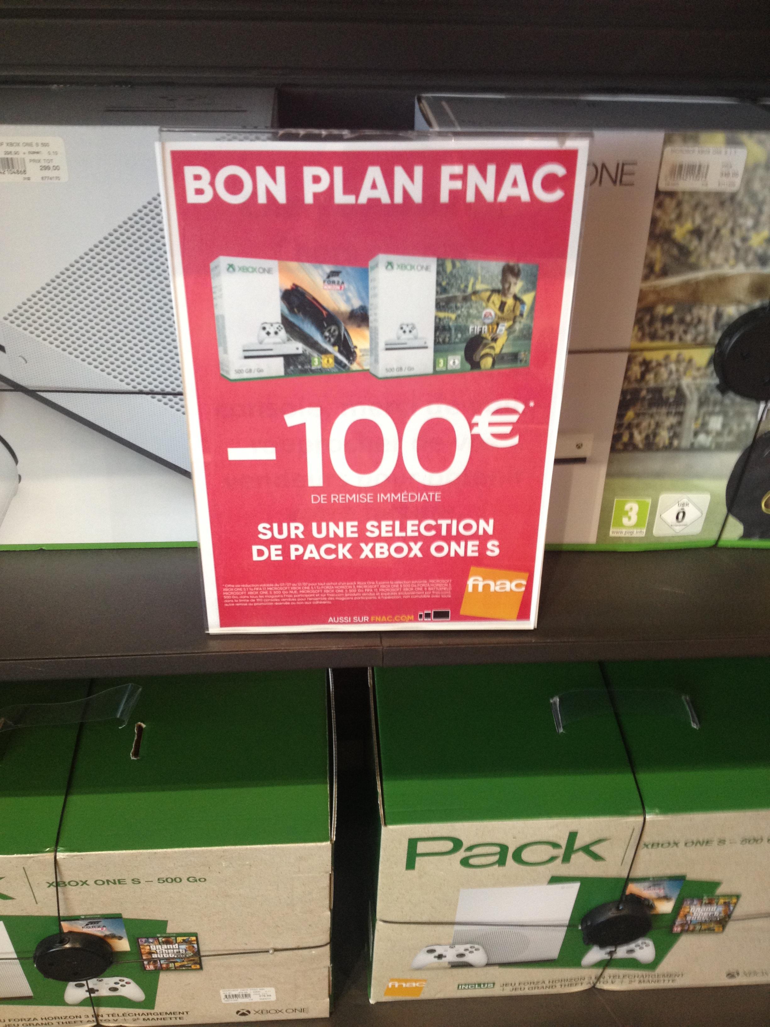 100€ de réduction sur les packs Xbox One - Ex : Pack Xbone One S 500Go + Forza Horizon 3