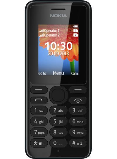 Téléphone portable Nokia 108 - Noir, dual SIM