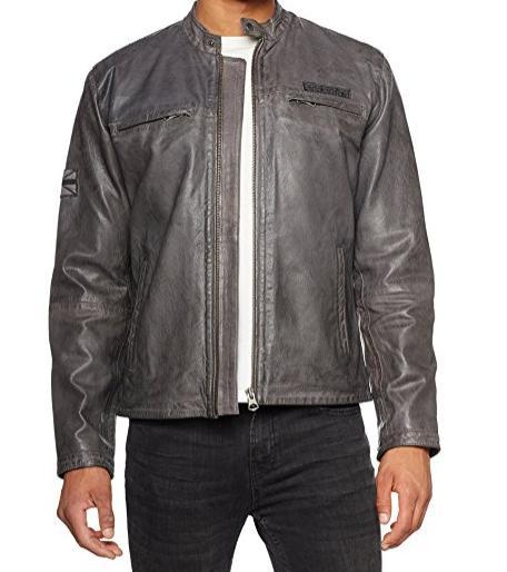 Veste en cuir Pepe Jeans Lennon 17 - Taille Small (correspond à du M)