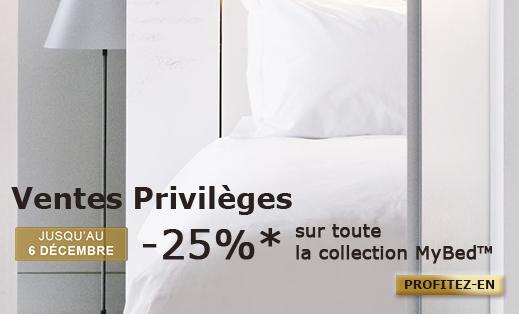 -25% sur toute la collection MyBed (lits Sofitel)