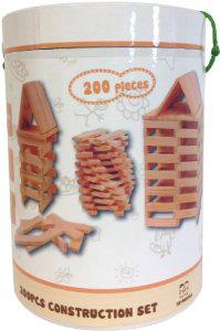 Baril construction de 200 planchettes en bois Gueydon type Kapla