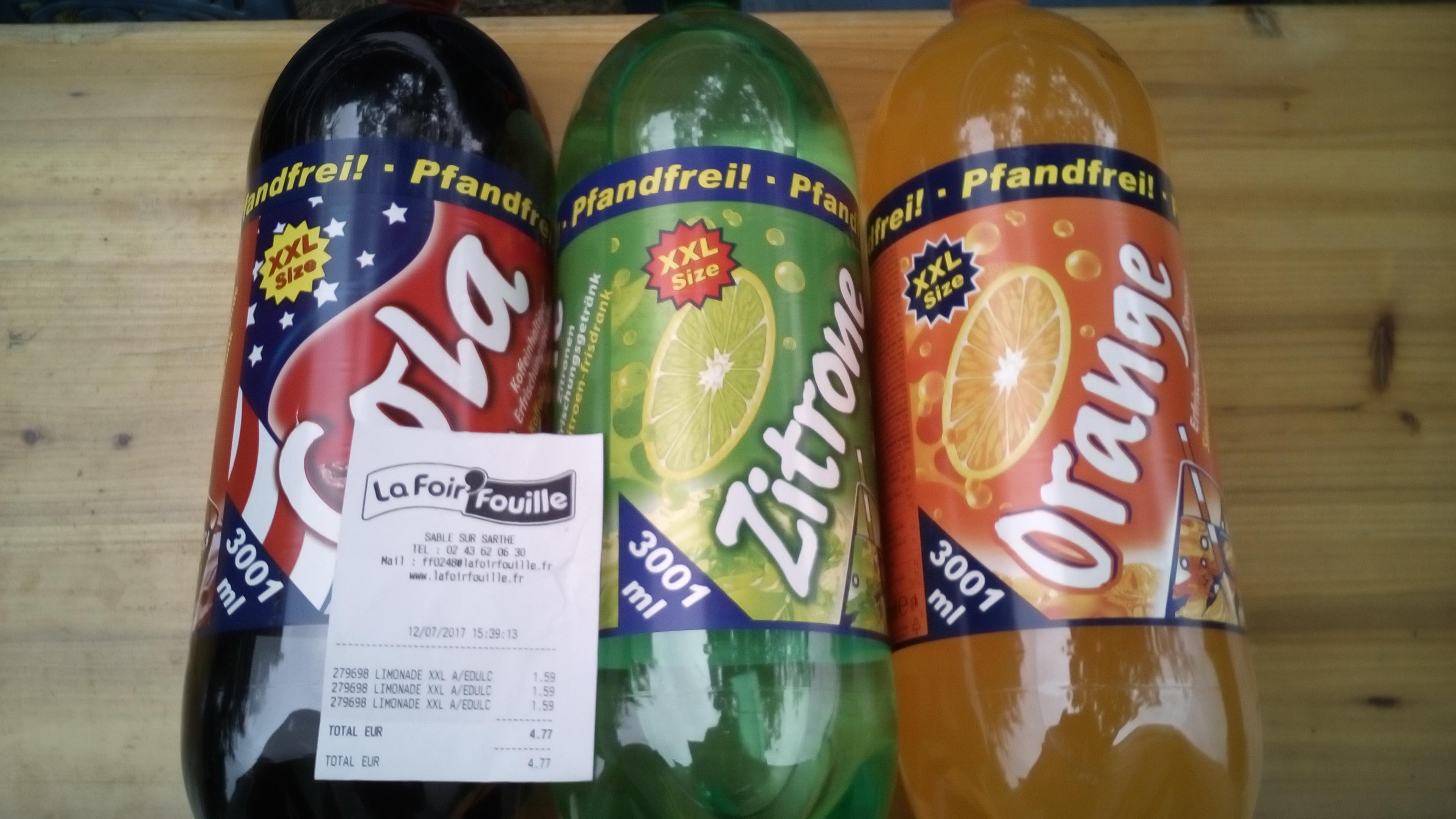 Bouteille de Soda au choix - 3L