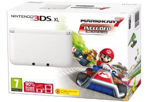 Nintendo 3DS XL Blanche + Mario Kart 7 (Éligible pour recevoir Super Mario 3D Land gratuitement)
