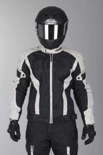Blouson moto été course Air - blanc ou noir - du XS au XXL