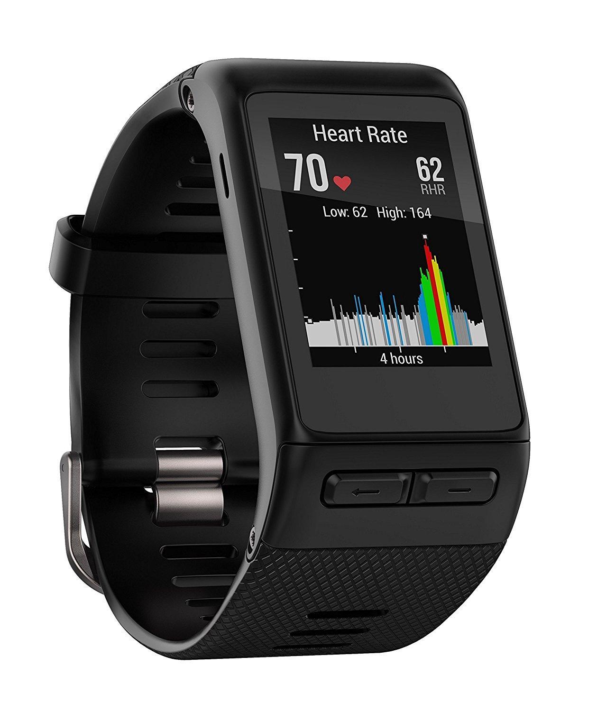 Montre connectée GPS Garmin Vívoactive HR (Cardio au poignet, taille M-L)