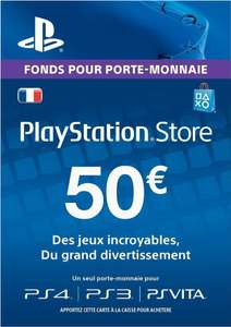 Carte de crédits PlayStation Store de 50€