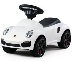 Trotteur voiture Porsche pour enfant Rastar - blanc / noir