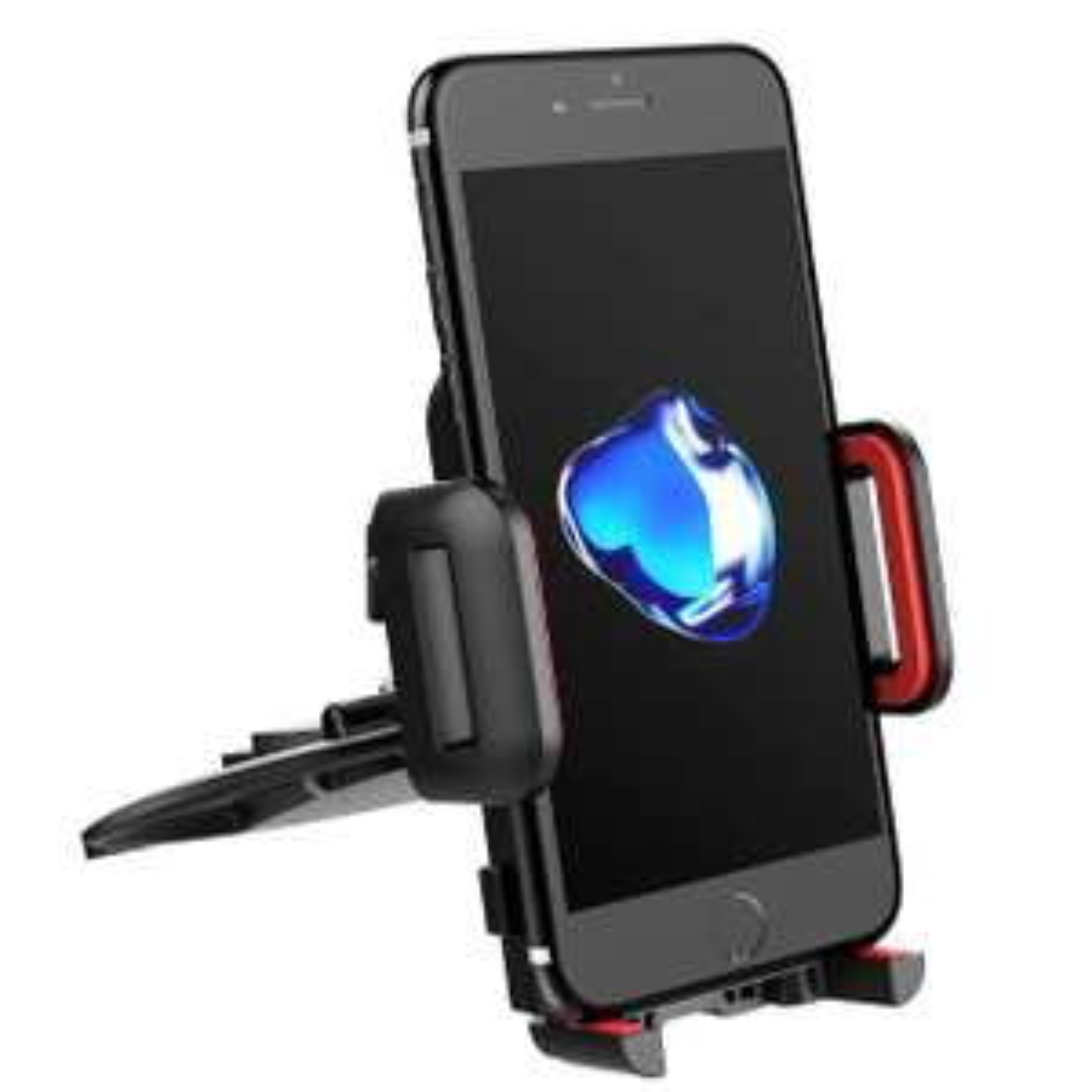 Support téléphone voiture Mpow Fixation à la fente de la lecture CD Noir/Rouge
