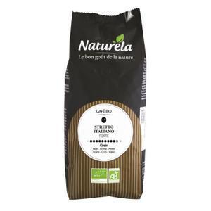[Cdiscount à Volonté] Lot de 2 sachets de café biologique en grains Naturela Stretto Italiano (n° 11) - 1 kg