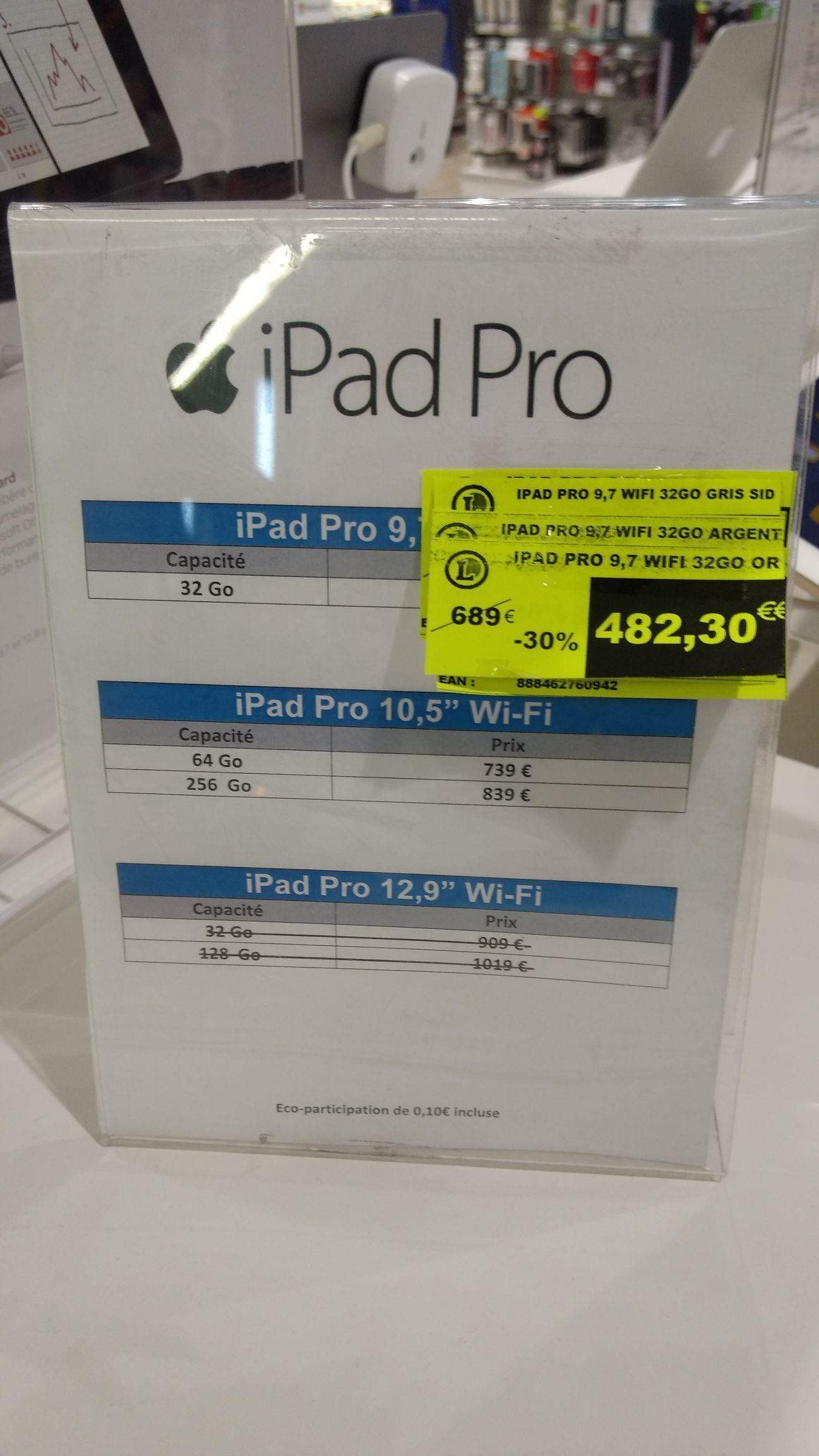 """Tablette 9.7"""" IPad Pro - 32 Go, WiFi, Plusieurs coloris"""