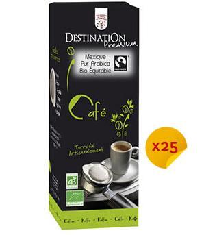 25 Dosettes café ESE Bio équitables Mexique