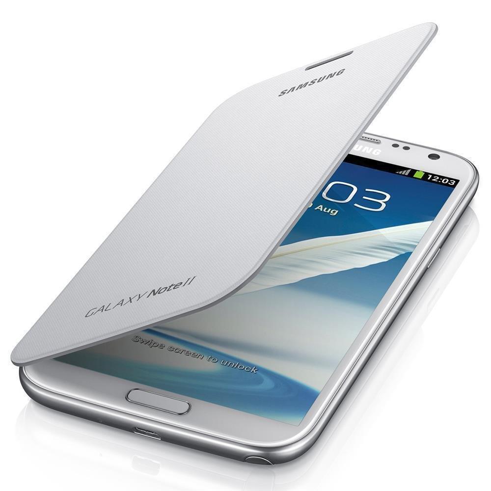 [Panier Plus] Étui à rabat Samsung EFC-1J9FWEG pour Galaxy Note 2 - Blanc