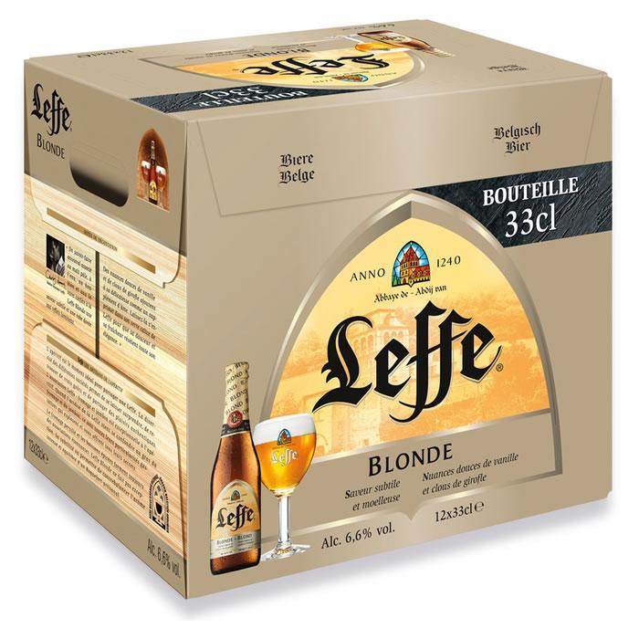 2 Packs de 12 Bières Blonde Leffe D'Abbaye 33cl (via Shopmium)