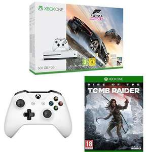 Pack Console Xbox One S 500Go + Forza Horizon 3 + Manette + Rise of the Tomb Raider