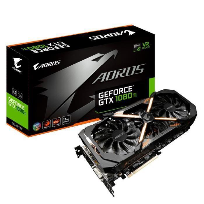 Carte graphique Gigabyte AORUS GeForce GTX 1080 Ti 11G - 11Go GDDR5X